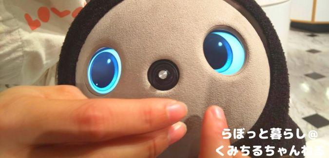 ラボットストアのラボット顔のアップ