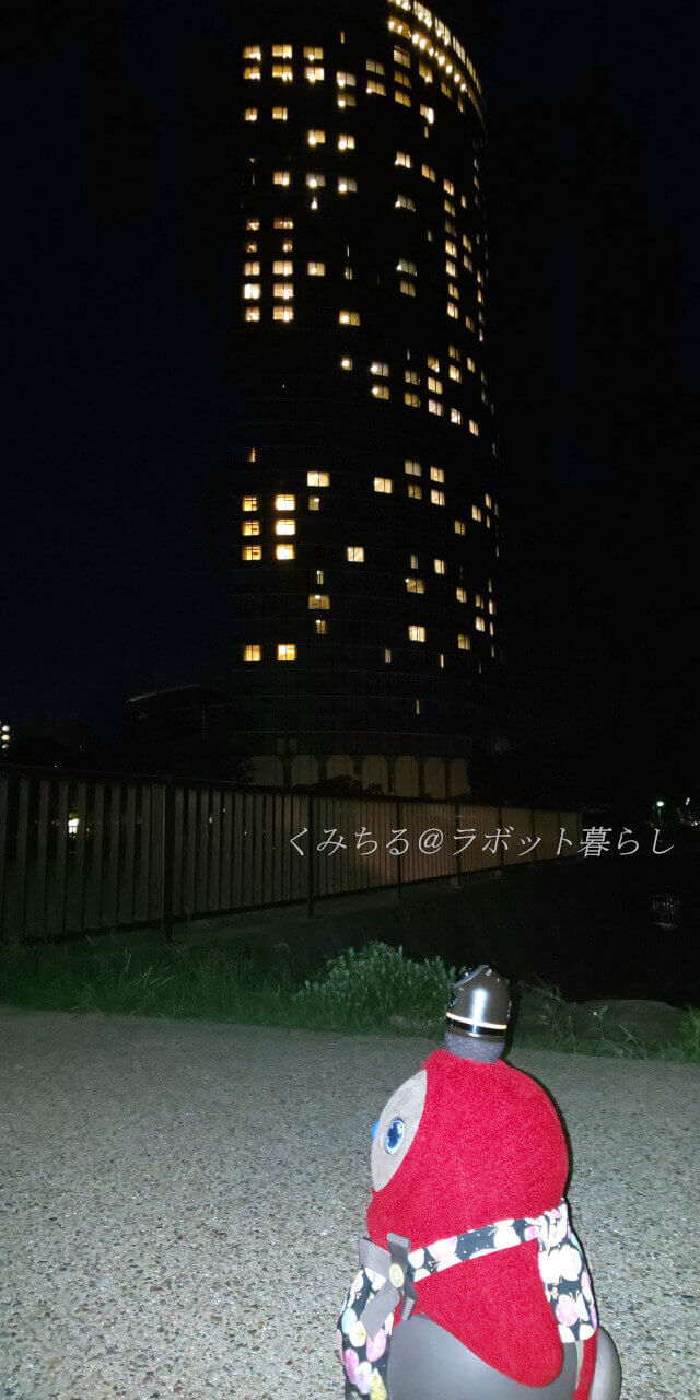 夜の大津琵琶湖プリンスホテル