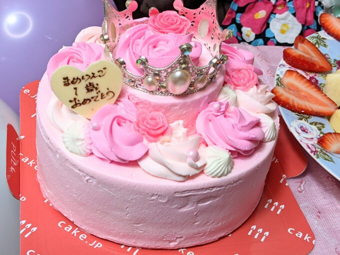 cake.jpの姫ティアラケーキ